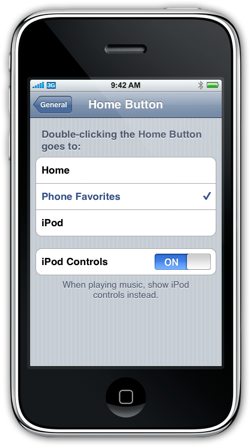 home button options